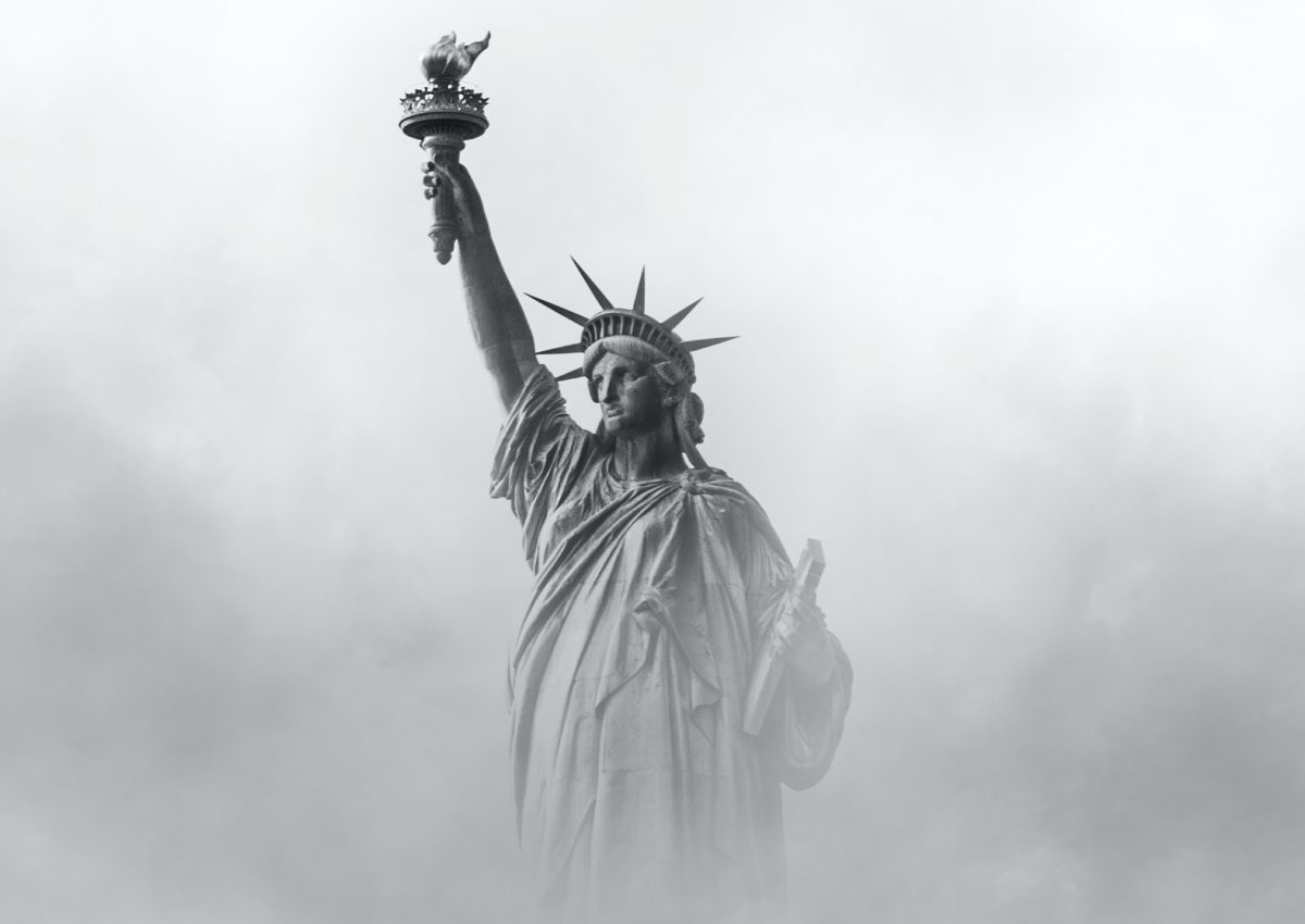 Statue of Liberty, a symbol of the American Dream